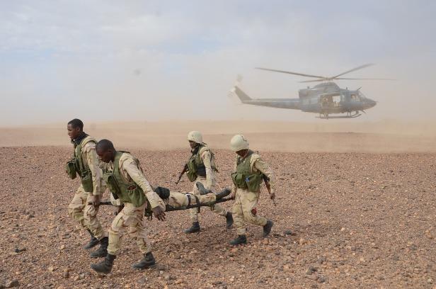 Mauritian soldiers Niger Flintlock 2014