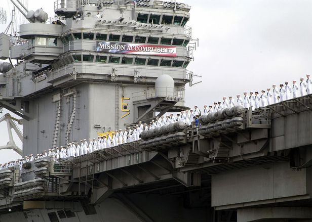 USS_Abraham_Lincoln_Mission_Accomplished