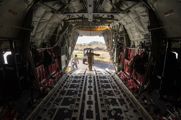 787th Air Expeditionary Squadron US Air Force C130J aircraft Dakar Senegal Nov11 2014 AFRICOM img