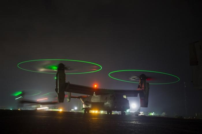 US Marine Corps MV 22B Ospreys with SPMAGTF Crisis Response Nov2014 AFRICOM img